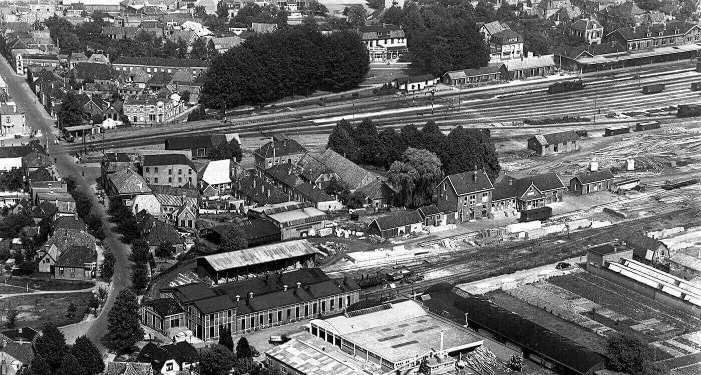 Luchtfoto Winterswijk 1948 (Museum Transit Oost Winterswijk)